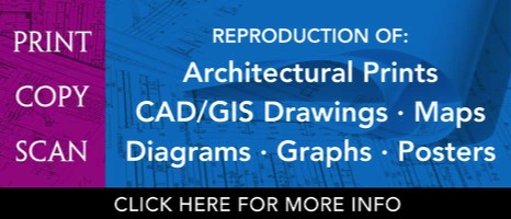 Reproduction of Architectural Print, CAD GIS, Maps, Diagrams, Graphs, Posters